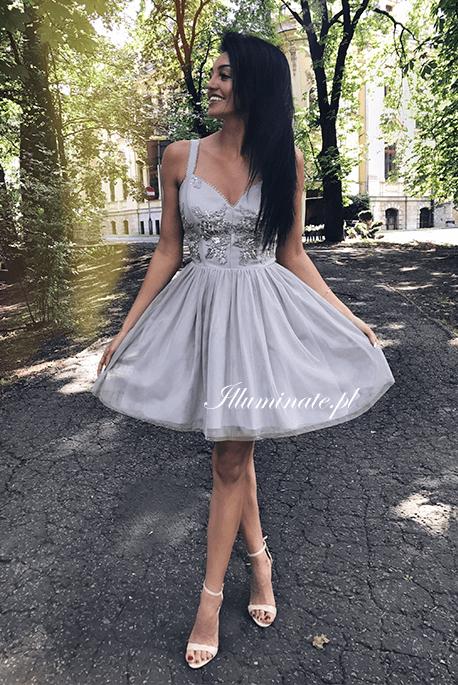 Maya szara sukienka na wesele
