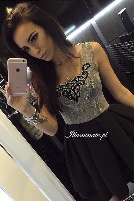 michelle-czarna-srebrna-sukienka