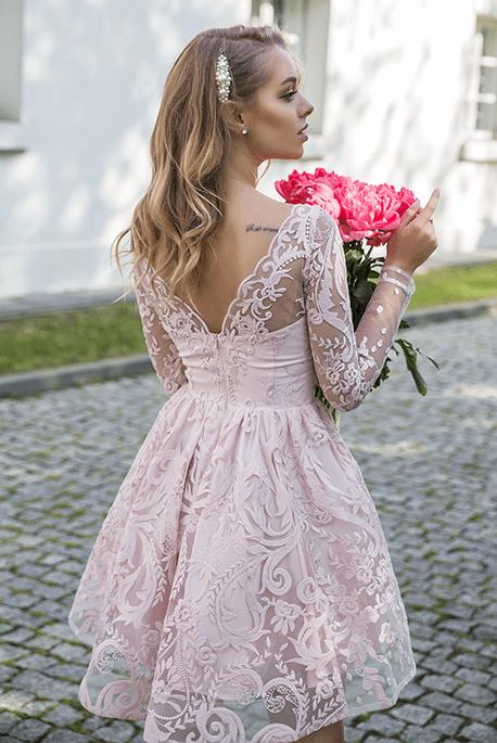 Nelia rozkloszowana sukienka na wesele
