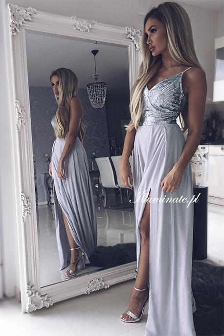 starlet szara sukienka