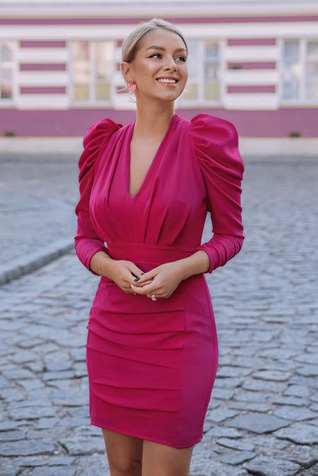 Fuksjowa, wieczorowa sukienka na wielkanoc