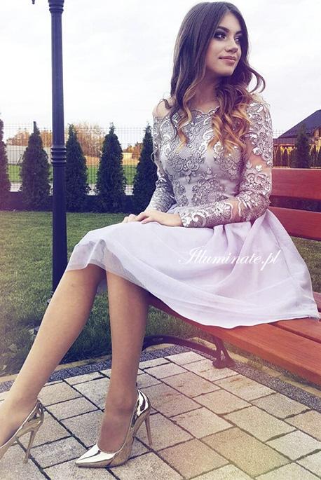 Sophia szara tiulowa sukienka