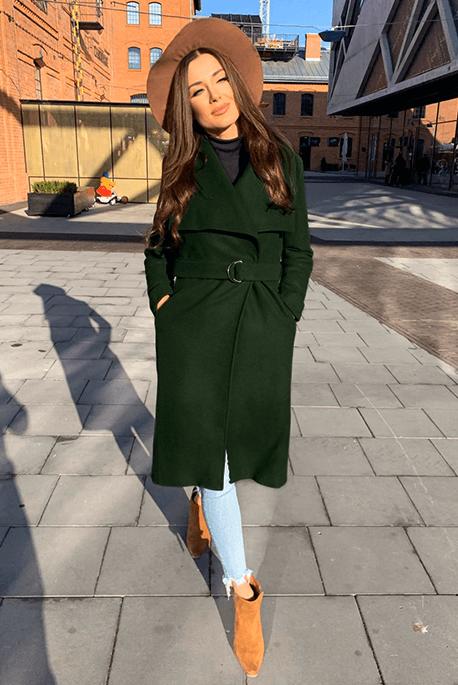 Ocieplany jesienny płaszcz
